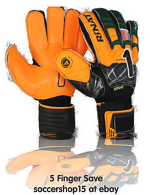 Rinat goalkeeper gloves(green/orange size 8) Supreme 2.0 replica 5 finger save