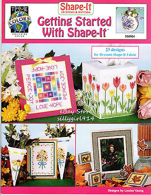 (23~UNIQUE DESIGNS~Counted Cross Stitch PATTERN BOOK~For Shape-It Fabric~SEE PICS)