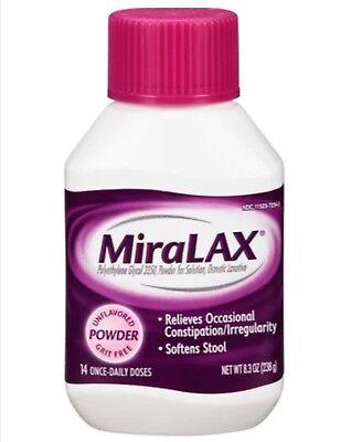 Miralax Laxative Powder (MiraLAX Laxative Powder  8.3 Oz. ~ 14 Daily Doses ~ Expires 4/2020)