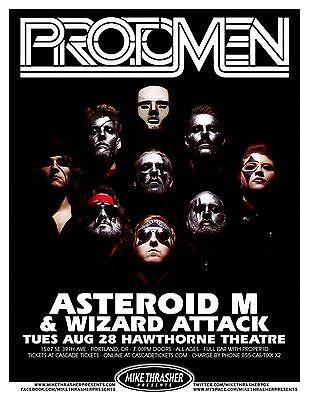 THE PROTOMEN 2012 Gig POSTER Portland Oregon Concert