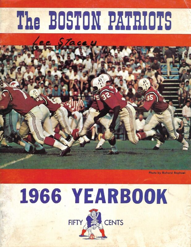 1966 Boston Patriots AFL Yearbook NICE!!
