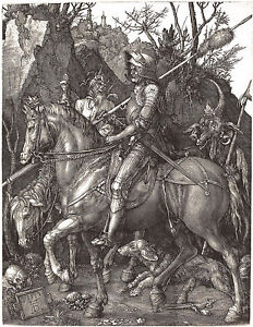 Albrecht Durer: Knight, Death & Devil - Fine Art Print