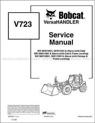 Bobcat V723 Versahandler Revision 2012 Update Printed Service Manual 6902760