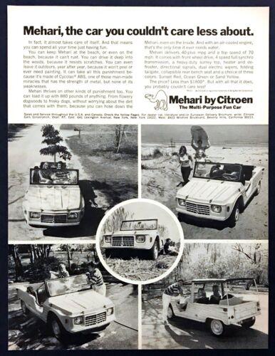 "1969 Citroen Mehari Car photo ""Spend Your Time Having Fun"" vintage print ad"