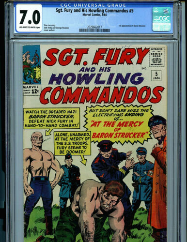 Sgt. Fury and His Howling Commandos #5 CGC 7.0 1965 Marvel Comic Amricons K23