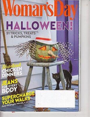 Woman's Day October 2017 Halloween 51 Tricks Treats & Pumpkins Chicken Dinners - Woman's Day Halloween 2017
