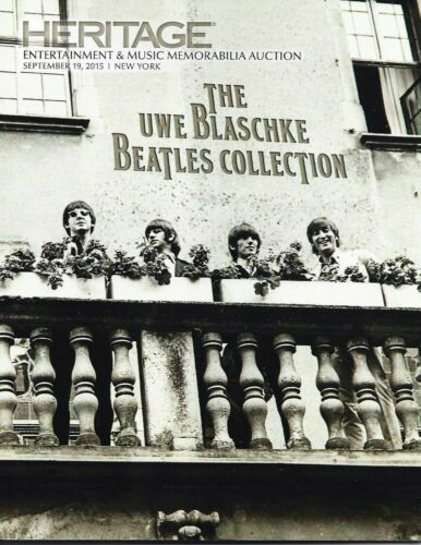 HERITAGE ENTERTAINMENT AND MUSIC AUCTION/BEATLES UWE BLASCHKE COLLECTION/2015