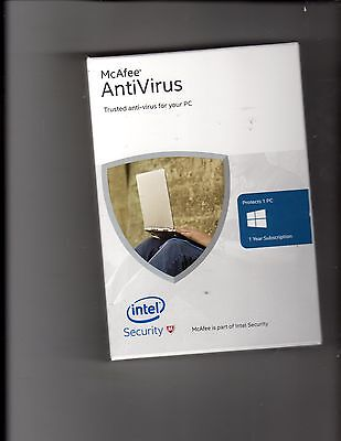 Антивирусная программа McAfee AntiVirus 2016 1