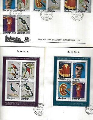 Penrhyn sc#93-6 #96c-d Souvenir Sheets (1978) Complete FDC's