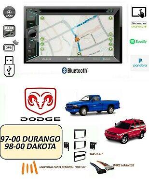 DODGE 1997-2000 DURANGO, 1998-2000 DAKOTA STEREO KIT, BLUETOOTH TOUCHSCREEN GPS