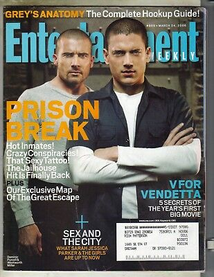 Wentworth Miller Dominic Purcell Entertainment Weekly Mag 3 24 06 Prison Break