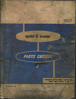 1963 Letourneau Model C Tractor Parts Catalog Pc-390a Rev 1-63 Cwl Thru Cwz