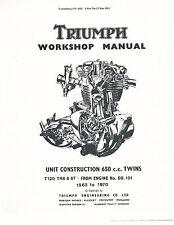Triumph workshop service manual 1968, 1969 & 1970