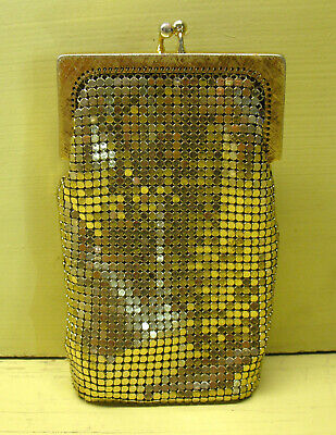 Vintage WHITING & DAVIS Gold Mesh Eyeglass or Cigarette Case EUC