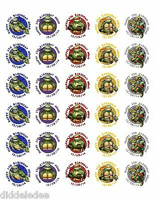 30 Teenage Mutant Ninja Turtles Stickers Lollipop Labels Party Favors ANY OK ](Teenage Mutant Ninja Turtles Party Favors)