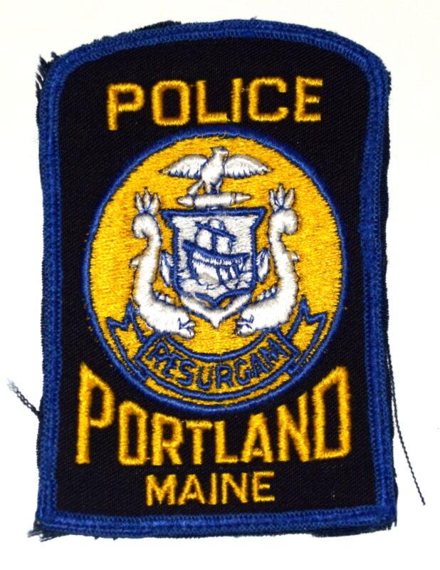 PORTLAND MAINE ME Police Sheriff Patch SEA SERPENT SHIELD TALL SAILING SHIP ~