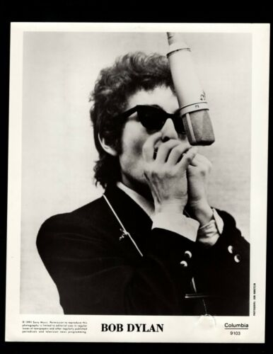 VINTAGE ORIGINAL Bob Dylan 1991 Limited Edition PROMO Photo Small Hole Lower R