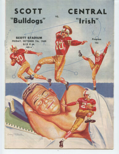 1949 Scott High School Vs Central Catholic Football Program (toledo, Ohio)