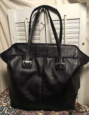 Coach Taylor North/South Black Leather Tote Shopper Shoulder Handbag F25941