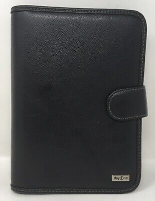 Franklin Covey Day One Classic Organizer Planner Black 762095 10 X 7.5 7 Ring