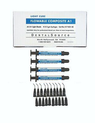 Light Cure Flowable Composite 4 Syringe Kit Shade A1