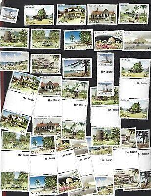 Nevis sc#169-81 (1983) Complete + Gutters MNH
