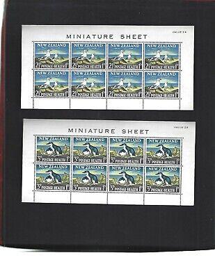 New Zealand sc#B67a-68a (1964) Souvenir Sheets MNH