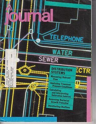 Journal   American Water Works Association Magazine 1990  Hydrant Flow  Pressure
