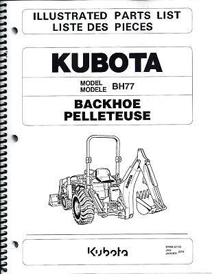 Kubota Bh77 Backhoe Illustrated Parts Manual 97898-32133