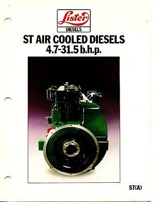 Lister Diesel Sales Brochures Lt St Hr23 Deg Engines Power Plant Generators 3