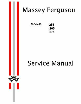 Massey Ferguson 255 265 275 Tractors Service Manual Reproduction