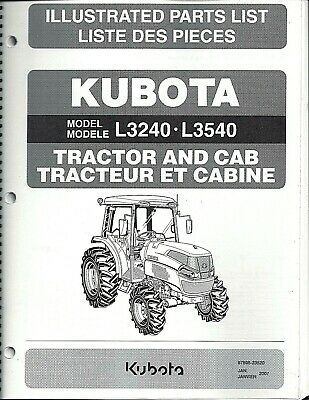 Kubota L3240 L3540 Tractor Illustrated Parts Manual 97898-23520