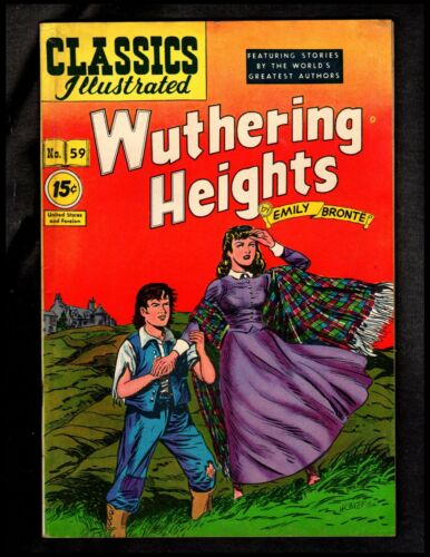 CLASSICS ILLUSTRATED #59 FINE-  HRN85 (WUTHERING HEIGHTS) EMILY BRONTE