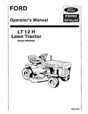 NEW HOLLAND Ford LT12 Hydro Lawn Tractor #9800989