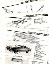 1967 1968 1969 MERCURY COUGAR MOTOR'S ORIGINAL BODY FRAME