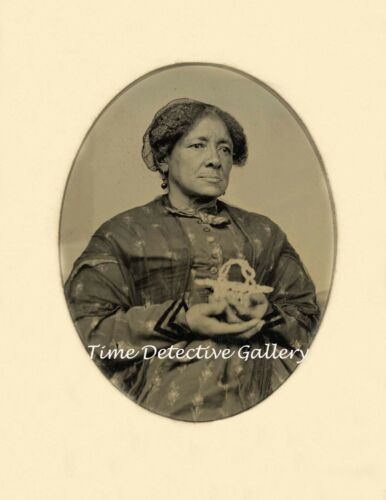 Portrait of African American Woman from a Tintype -1860s- Historic Photo Print
