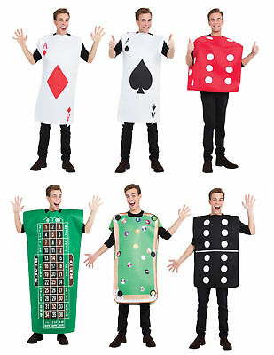 ADULTS CASINO DICE DOMINO ROULETTE FANCY DRESS OUTFIT LAS VEGAS STAG HEN DOO