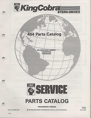 1991 Omc King Cobra Stern Drive 454 Parts Manual