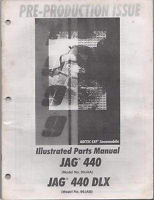 manuals arctic cat jag trainers4me 1999 arctic cat jag 440 jag 440 dlx snowmobile parts manual
