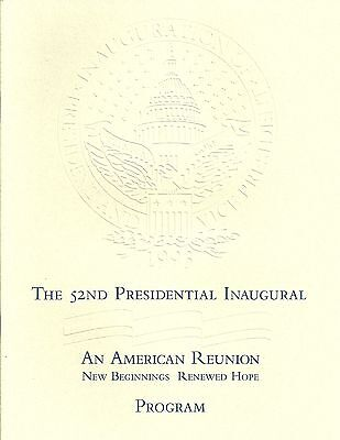 Bill Clinton Inaugural program book