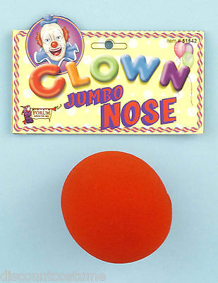 Giant Nose Costume (RED JUMBO SIZED CLOWN NOSE ADULT UNISEX COSTUME)