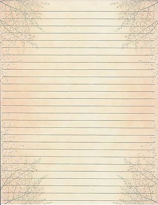 Fall Theme Lined Stationery Writing Paper Set ,  25 sheets & 10 - Fall Stationery