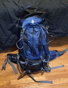 Woods black and blue 70L ruck sack