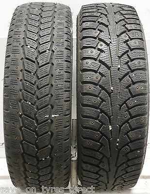 2 1956515 Michelin Nokian 195 65 15 Winter Used Part Worn Tyres Metal Studded