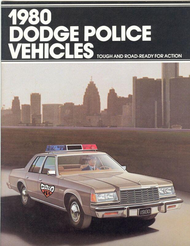 1980 Dodge St Regis Aspen Vans  Police Vehicles NOS Sales Brochure