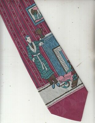 New 1930s Mens Fashion Ties Images-1930s Man In Bathrobe-[Andrew's Ties]100% Silk-Made In Italy-31-Men's Tie $23.15 AT vintagedancer.com