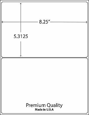 1000 8.375 X 5.375 Rounded Corner Shipping Labels 2 Per Sheet
