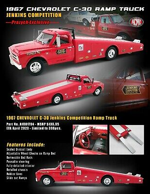 ACME: 1:18  1967 CHEVROLET C30 GRUMPY JENKINS RAMP TRUCK - EXCLUSIVE - LIMTED ED