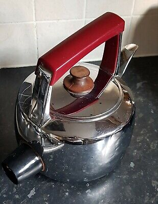 Hotpoint Hi-Speed Automatic Electric Kettle CAT 4021 Red burgundy handle vintage