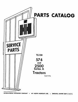 New International Harvester 574 2500 Tractor Parts Manual